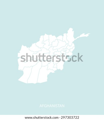 Afghanistan map vector in a faded background, Afghanistan map outlines for publication, science, and web-page template uses  - stock vector