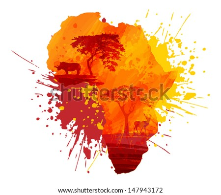 africa abstract design - stock vector