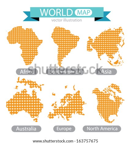 Africa asia australia europe north america vectores en stock africa asia australia europe north america south america world map gumiabroncs Choice Image