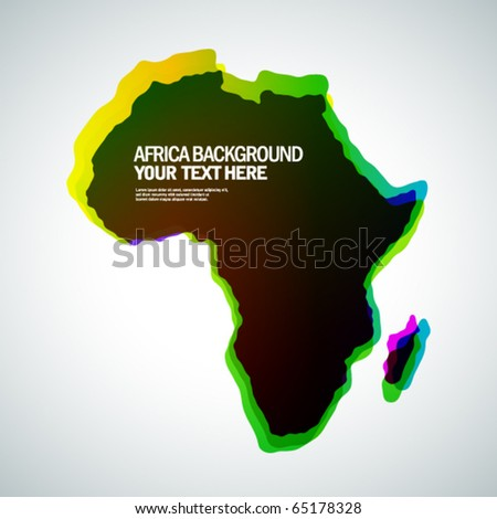 Africa background - stock vector