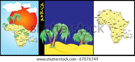 Africa background map - stock vector