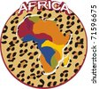 africa badge - stock photo