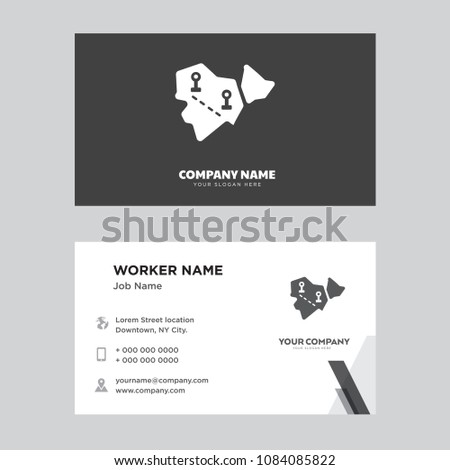 Africa business card design template visiting stock vector africa business card design template visiting for your company modern horizontal identity card vector colourmoves