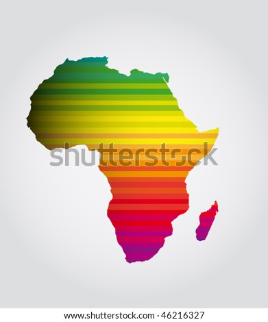 africa colorful sign - stock vector