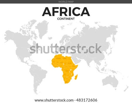 Color world map vector illustration empty stock vector 440507563 africa continent location modern detailed vector map all world countries without names vector template gumiabroncs Images