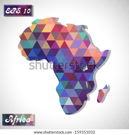 Africa . EPS10 file version. This illustration contains transparency and is layered for easy manipulation and custom coloring. - stock vector