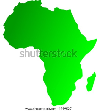 africa forest map - vector - - stock vector