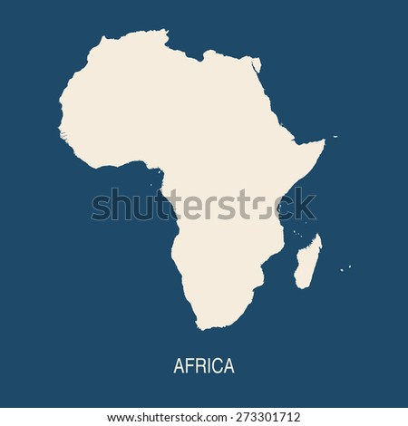 AFRICA MAP flat design illustration vector - stock vector