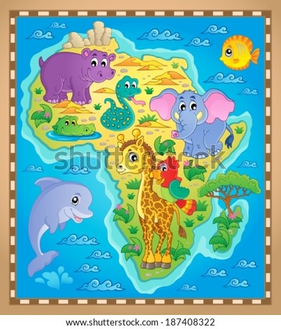 Africa map theme image 2 - eps10 vector illustration.