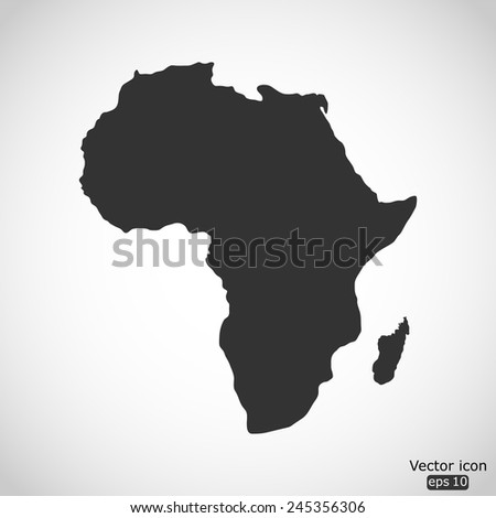 Africa map vector icon - stock vector