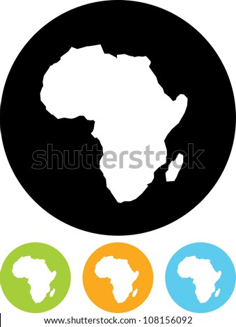 Africa Map - Vector icon isolated - stock vector