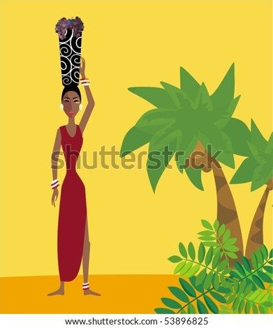 Africa style - stock vector