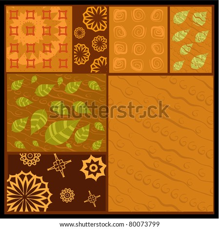 African abstract ornament