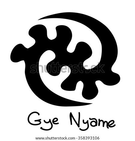 african adinkra symbol gye nyame except stock vector