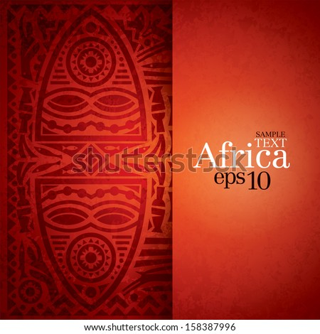 African background design template for cover design, magazine cover, banner, card design, flyer design.  - stock vector