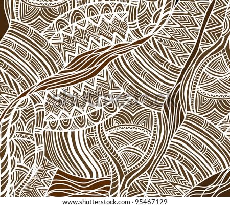 African background in the ethnic style of hand-painted - stock vector