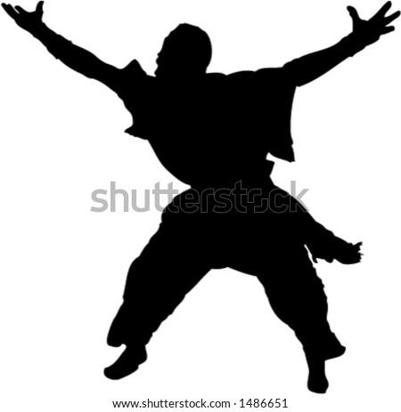 African Dancer - stock vector