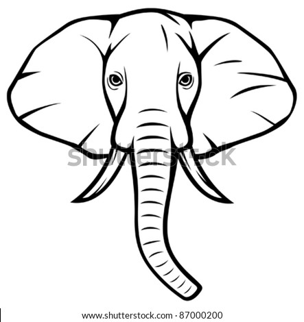 Elephant Head Stock Images Royalty Free Vectors