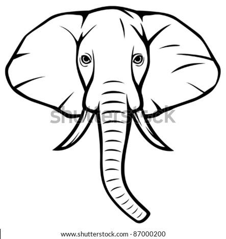 Elephant Head Stock Images Royalty Free Vectors