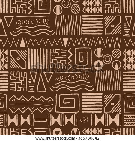 African ethnic pattern - indigenous art background. Africa style design. - stock vector