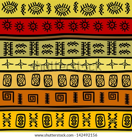 African Tribal Patterns And Meanings African hand-drawn ethnicAttackingtucans Barney