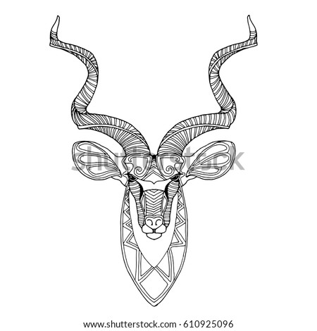 Springbok African Animal Vector Antelope Illustration Stock Vector