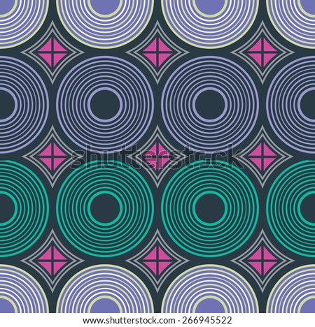 African ornament. Vector seamless pattern. South fabric ornament - stock vector