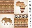 African ornamental motifs - stock vector