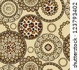 African style seamless with cheetah skin pattern - stock photo