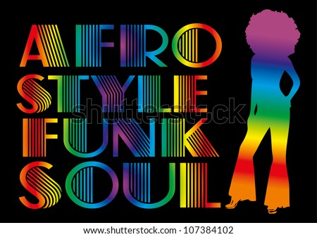 afro american girl - stock vector