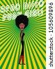 afro disco girls - stock