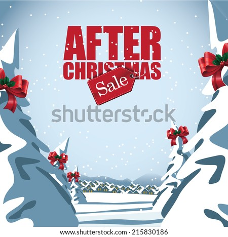 After Christmas Sale design Eps10 vector - stock vector