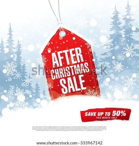 After Christmas Sale. Vector illustration - stock vector