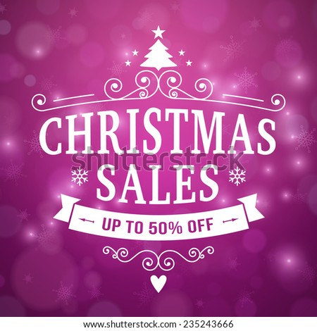 after christmas sales poster vector background. layered. - stock vector
