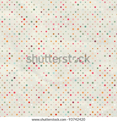 Aged and worn paper with polka dots. And also includes EPS 8 vector - stock vector