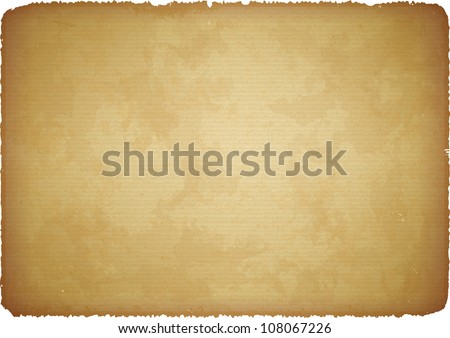 Aged paper with torn edges - stock vector