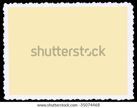 aging photographic paper. vector - stock vector