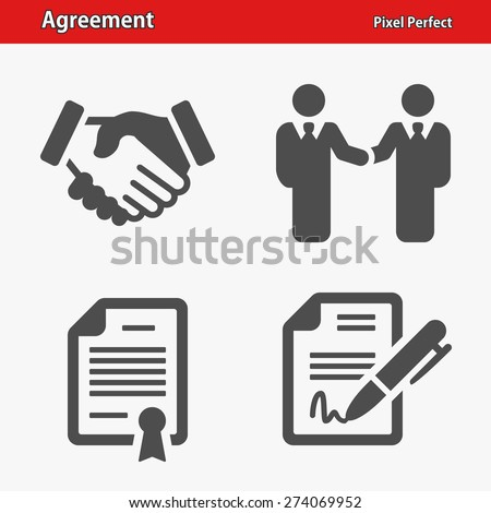 Agreement Icons. Professional, pixel perfect icons optimized for both large and small resolutions. EPS 8 format. - stock vector