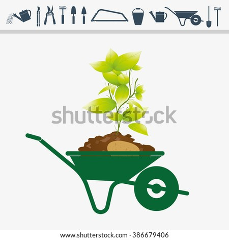 agricultural and gardening tools. - stock vector