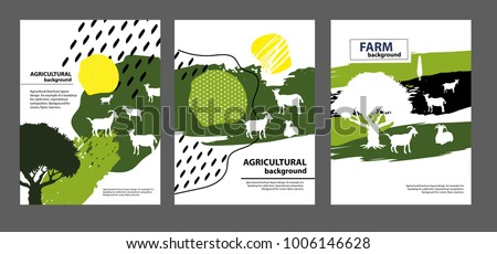 agricultural brochure layout design an example of a backdrop for cattle farm geometrical composition