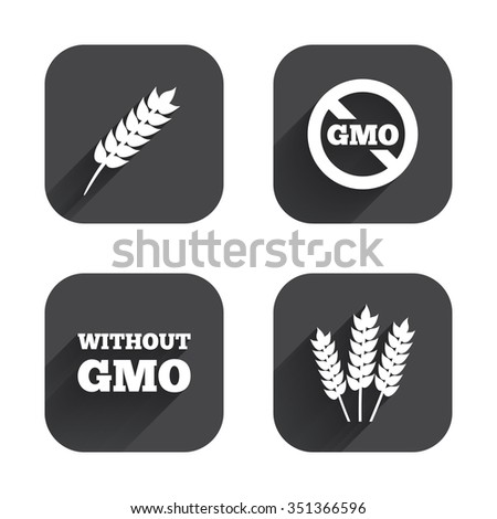 Agricultural Icons Gluten Free No Gluten Stock Vector ...