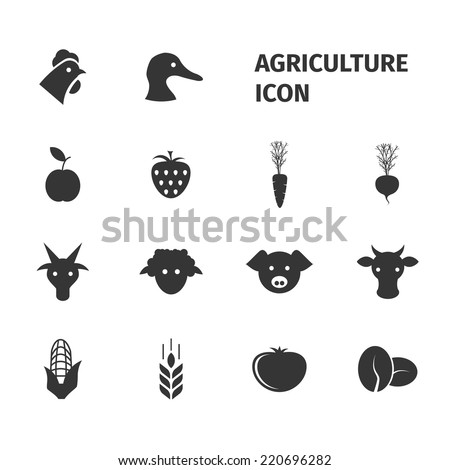 agriculture icon - stock vector