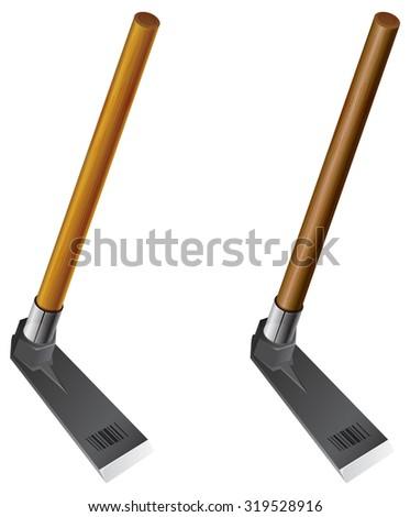 Garden rake icon illustration stock vector 603382475 for Hand held garden spade