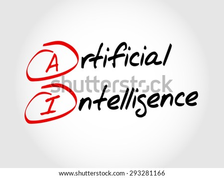 AI - Artificial Intelligence, acronym concept - stock vector