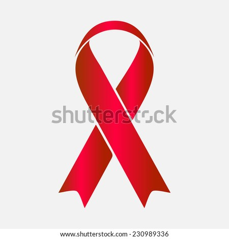 AIDS awareness ribbon isolated on white. Vector illustration EPS 10 - stock vector