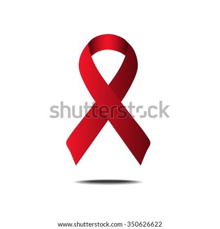 AIDS awareness ribbon vector illustration - stock vector