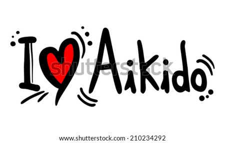 Aikido love message - stock vector
