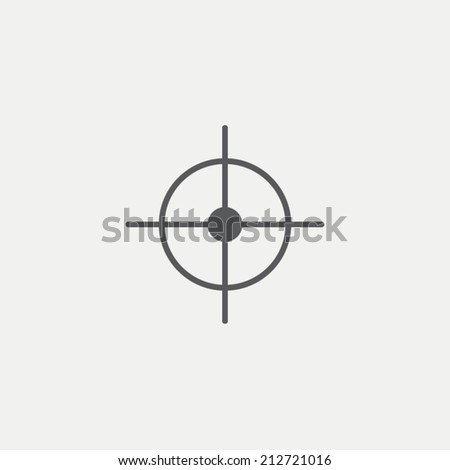 Aim icon - stock vector