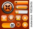 Aim orange design elements for website or app. Vector eps10. - stock vector