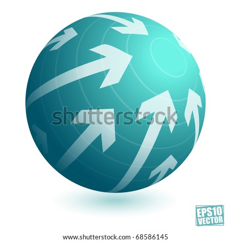 Aim targeting concept - stock vector